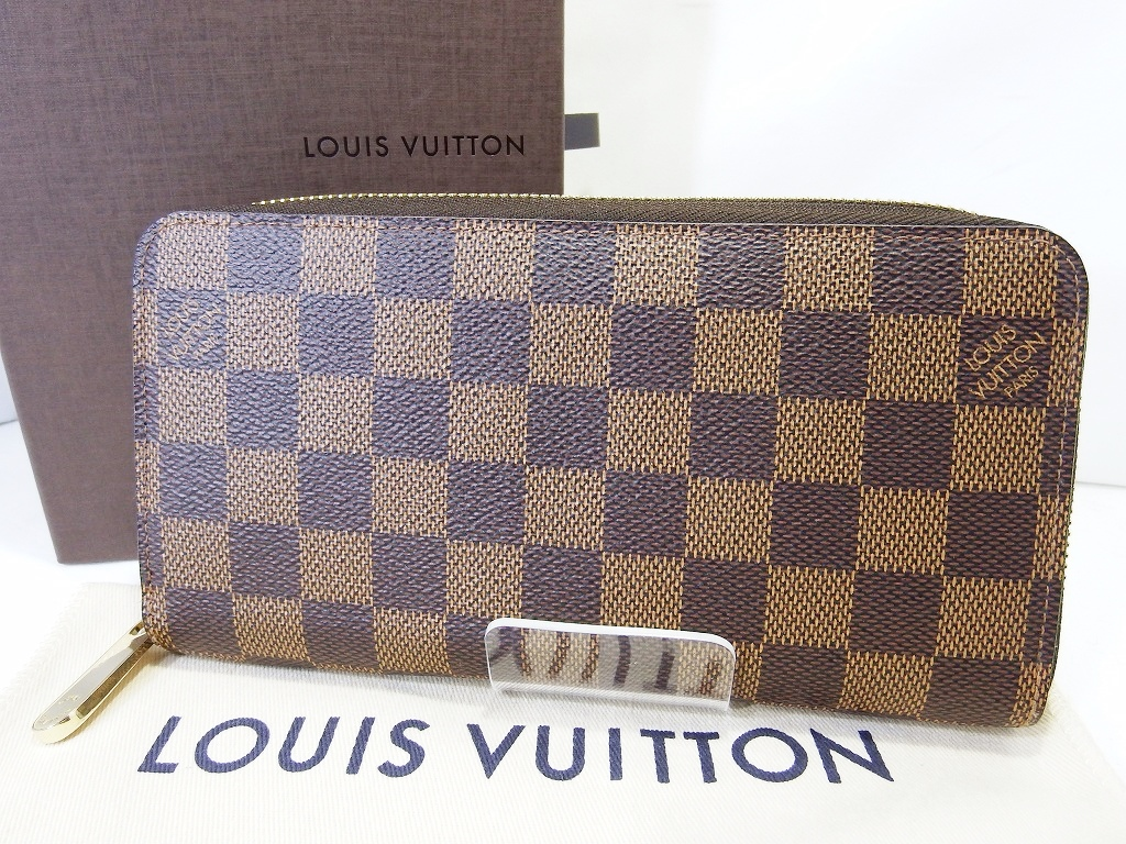 best service a0998 63fb4 LOUIS VUITTON 買取 ジッピー ウォレット N41661 ダミエ ルイ ...